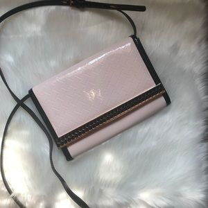 TED BAKER Light Pink/Black Patent Purse/Clutch